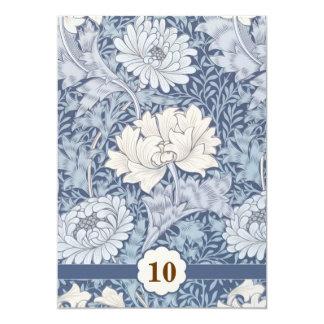 blauwe huwelijksverjaardag 12,7x17,8 uitnodiging kaart
