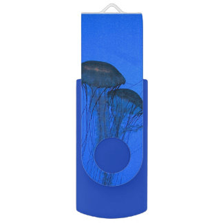 Blauwe Kwallen Swivel USB 2.0 Stick