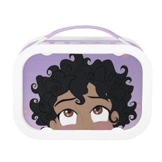 Blauwe Lunchbox Peekaboo van ClaraBelle -