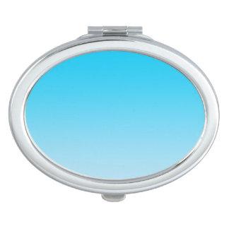 Blauwe Ombre Make-up Spiegeltje