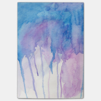 Blauwe & Paarse Waterverf | Blocnote Post-it® Notes