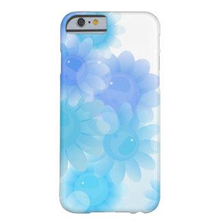 Blauwe romantische vintage bloemen barely there iPhone 6 hoesje
