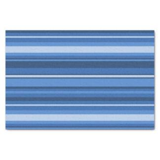 Blauwe strepen tissuepapier