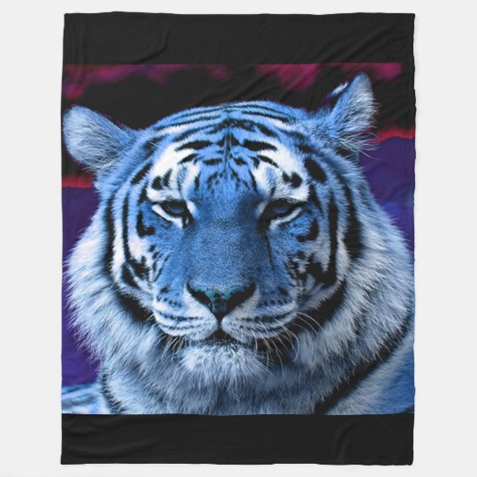Fleece Deken Tijger.Blauwe Tijger Fleece Deken Zazzle Be