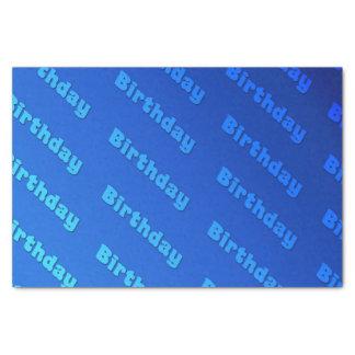 (Blauwe) verjaardag Tissuepapier