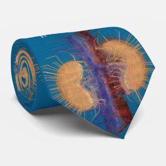 Bleu Artsy unique de conception de rein de cravate
