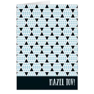 Bleu aztèque de Mazel Tov Carte De Correspondance