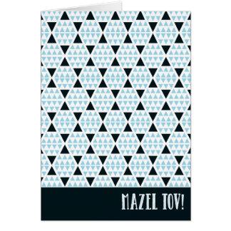 Bleu aztèque de Mazel Tov Carte De Vœux