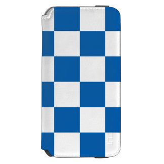 Bleu Checkered Coque-portefeuille iPhone 6 Incipio Watson™