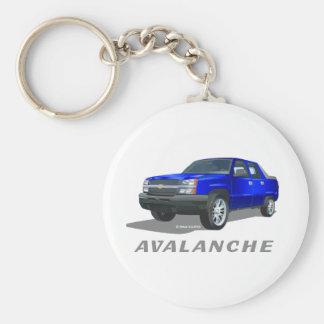 Bleu d'avalanche de Chevrolet Porte-clé Rond