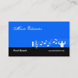 Bleu De Carte Visite Dducateur Musique