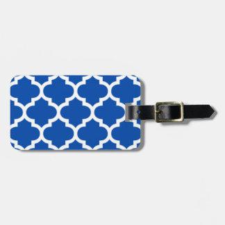Bleu de cobalt de Quatrefoil Étiquette Pour Bagages