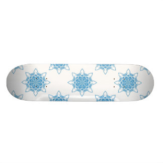 Bleu de flocon de neige skateboards