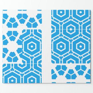 Bleu de forme sur le blanc papiers cadeaux