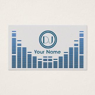 Bleu de jeu de musique d'égaliseur du DJ ombragé Cartes De Visite