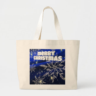 Bleu de Joyeux Noël Grand Tote Bag