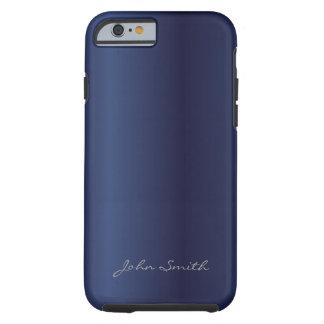 Bleu de minuit royal avec le cas nommé fait sur co coque tough iPhone 6
