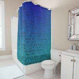 Bleu de résumé au rideau en douche de turquoise