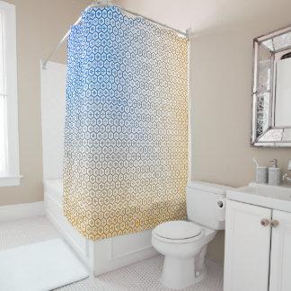 Bleu de résumé au rideau en douche orange