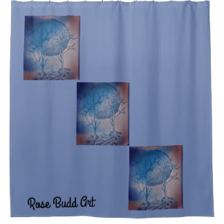bleu de rideau en douche