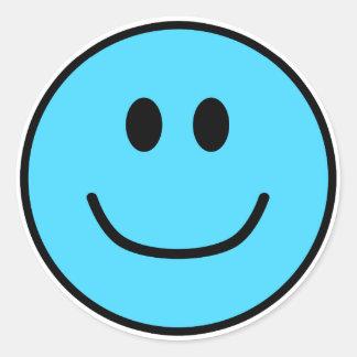 Bleu de sourire 0002 d'autocollants de visage