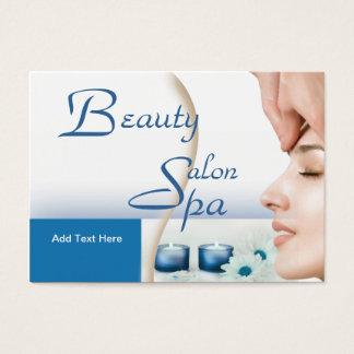 Bleu de spa de salon de beauté de Zizzago de carte