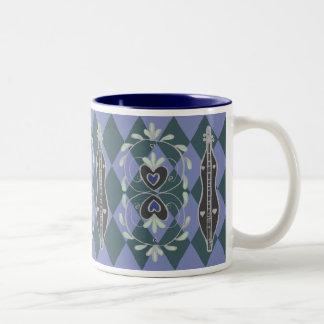 Bleu de tasse de dulcimer de montagne