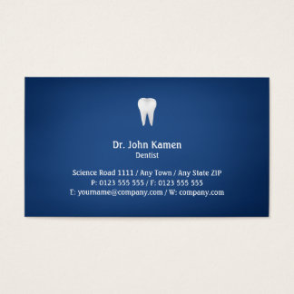 Bleu dentaire élégant de   cartes de visite