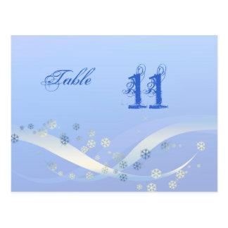 Bleu d'hiver de carte de nombre de Tableau