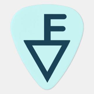 Bleu d'onglet de guitare de marque de Fisher Onglet De Guitare