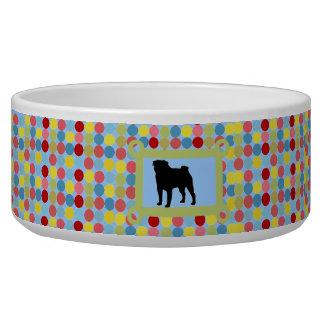 Bleu élégant de bol d'aliments pour chiens de bol pour chien