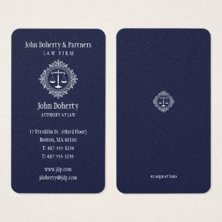 Bleu élégant de l'avocat   cartes de visite