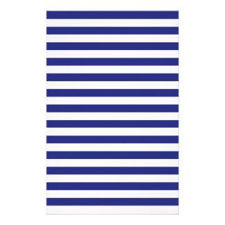 Bleu et blanc barre la papeterie