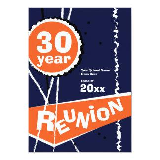 Bleu et orange invitation de la Réunion de classe