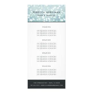 Bleu glacier Bokeh évaluation ou services de | Carte Publicitaire