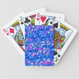Bleu gothique vintage de rose rose cartes à jouer