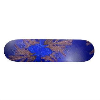 Bleu I de poinsettia de Noël Plateau De Skateboard