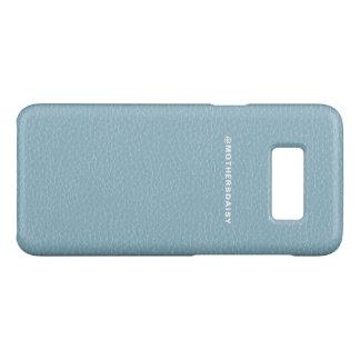 Bleu léger simili cuir de denim de Faux Coque Case-Mate Samsung Galaxy S8