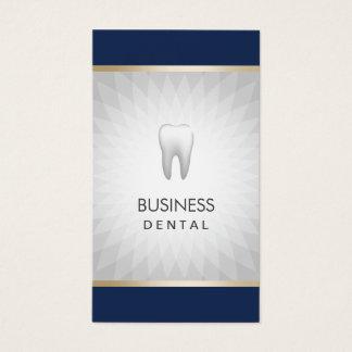 Bleu marine de dentiste et rendez-vous dentaire cartes de visite