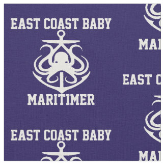 Bleu marine de tissu d'ancre de poulpe de bébé de