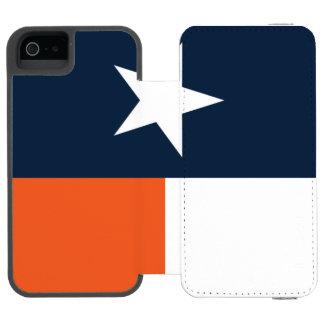 Bleu marine et orange coque-portefeuille iPhone 5 incipio watson™