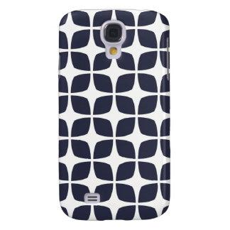 Bleu marine géométrique de caisse/de la galaxie S4 Coque Galaxy S4