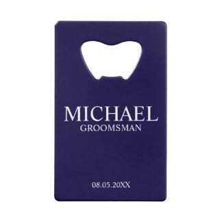 Bleu marine moderne Groomsman personnalisé