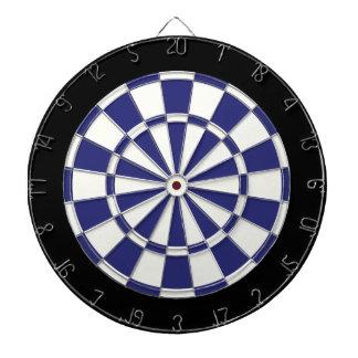 Bleu marine noir et blanc jeu de fléchettes