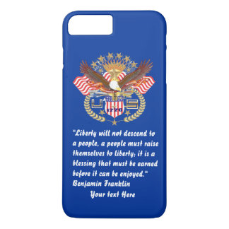 Bleu marine patriotique de forêt de paix coque iPhone 7 plus