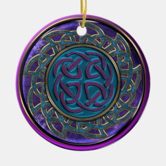 Bleu, or et ornement celtique pourpre de mandala
