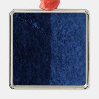 bleu ornement carré argenté