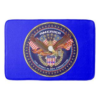 Bleu patriotique de Bath d'esprit Tapis De Bain