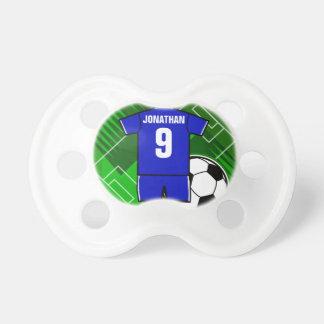 Bleu personnalisé de Jersey de football avec le Tétine Pour Bébé