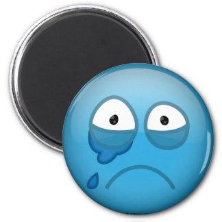 Bleu pleurant magnets